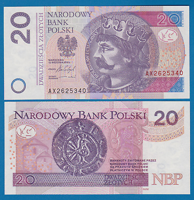 Poland 20 Zlotych P 184 New date 2016 UNC Low Shipping! Combine FREE!