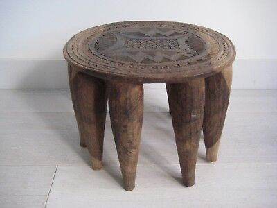 Old African Tribal Art Hardwood Stool