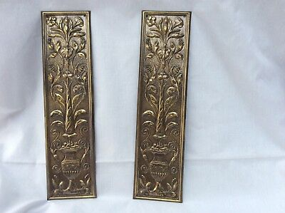 Pair of  Brass Door Finger Plates