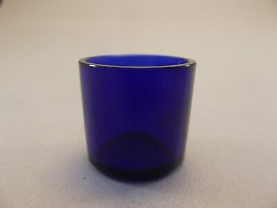 Cobalt Blue Glass Liner (GL11) Replacement Silver Mustard Pot - Vintage Bristol
