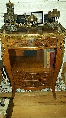 A Louis XV style Bombe Chest of Drawers/ pot cupboard