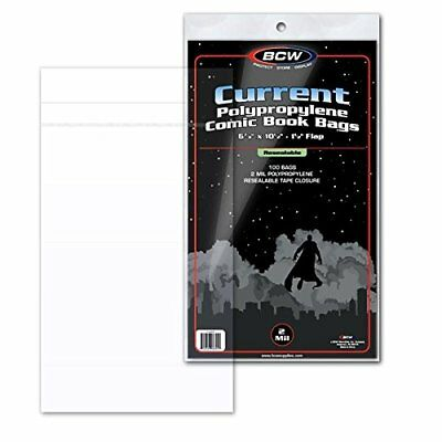 Resealable Comic Book Bags Current Backing Boards Storage Acid Free 100 Count US
