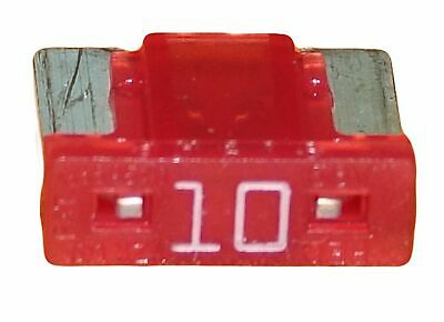 Lot 1 2 5 10 mini fusibles 10A auto moto à lame low profile rouge pince fusible