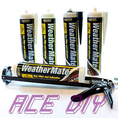 Everbuild WeatherMate Multi Use Flexible Gap Adhesive C3 310 ml With Sealant Gun