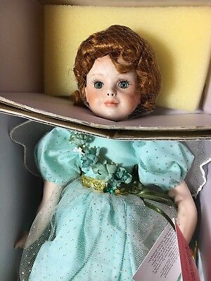 """Paradise Galleries Porcelain Doll """"Shannon the Shamrock Fairy"""" by Patricia Rose"""