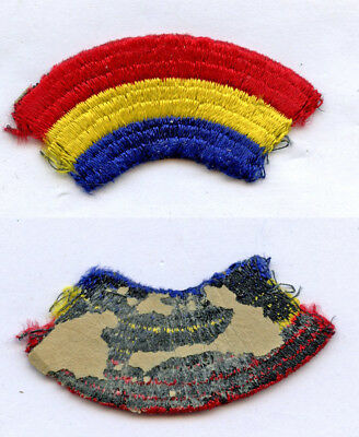 WWII WW2 Patch SSI-42nd Rainbow Division THEATER MADE Thick Loose Embroidery
