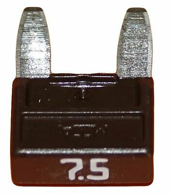 Lot 1 2 5 10 mini fusibles 7.5A auto moto à lame marron pince extracteur fusible