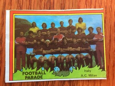 Monty Gum Like Panini Calciatore Football Rare 1980 AC Milan Team Card