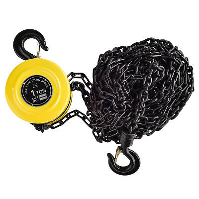 Chain Hoist 1 Ton 16.5 FT Compacity Puller Automotive Block Lift Pulley Tool