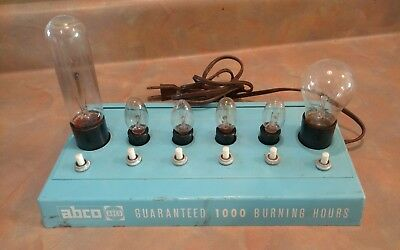 Vintage Abco light bulbs Store Counter advertising display Rare**