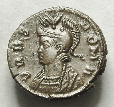 Nice Constantine I Ae 3/4 Lugdunum Mint With Old Collection Ticket (292C)