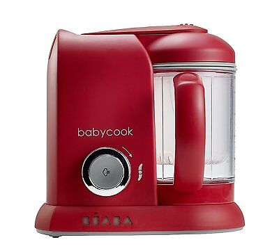 Beaba Baby Cook 4 In 1 Baby Food Processor Steam Cook Blend - Red - New