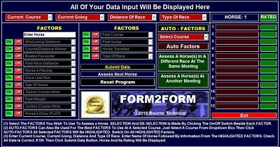 CDROM FORM2FORM Horse Racing System