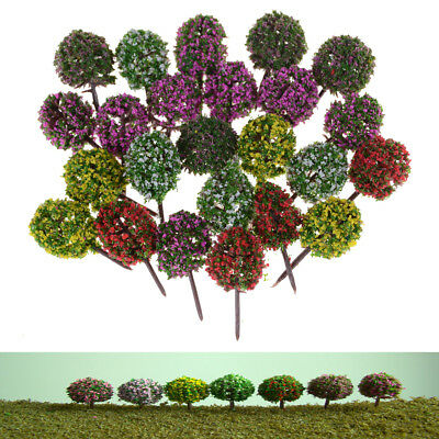5x Mini Flower Tree Plants Fairy Garden Decor Dollhouse Craft Model For Dolls JK