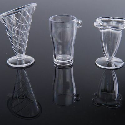 Transparent Craft Doll House Tableware Miniatures Ice Cream Cup