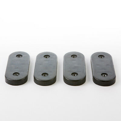 Parts - 4 x (Set) Eames Replacement Lounge Chair Black Rubber Shock Mounts