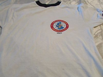 Vintage Camp Freedom T Shirt 1979 Staff Boy Scouts Size 36/38