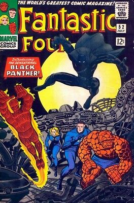 Black Panther #1 (1977) and Fantastic Four #52 (1966) Mint condition