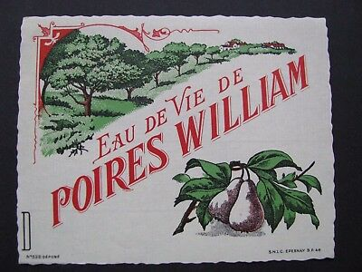 Etiquette Eau de Vie Poires William