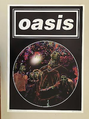 OASIS,photo by JILL FURMANOVSKY AUTHENTIC   1997  POSTER