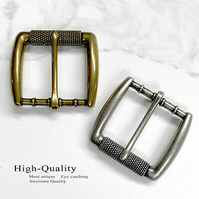 35mm Wide Belt Buckle Antique Silver Tone Clamp on Buckle fit/'s 1-3//8 inch