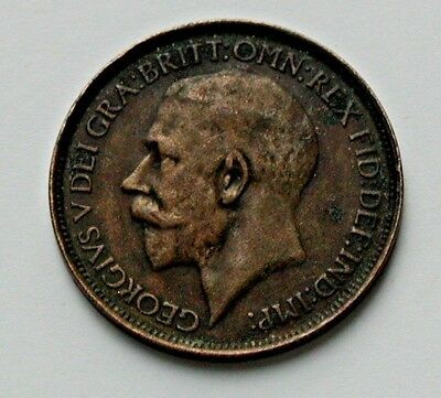 1912 UK (British) George V Coin Half Penny (1/2d) dirty & surface pitting (rev.)