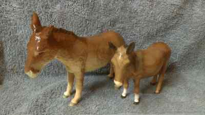2 adorable Beswick  ** Jenny Donkeys **  models 2267A and 1364B excellent