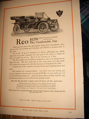 1910 Ads Reo Motor Car  And Steero Bouillon Cubes Lady Pouring Schieffelin & Co