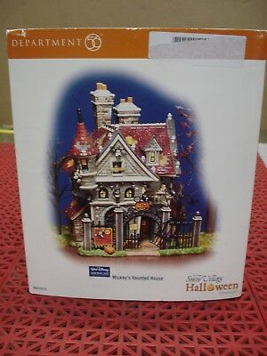 Department 56 Snow Village 56-55375 Mickey's Haunted House Lighted Halloween NEW