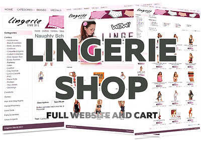 Stocked auto updating Lingerie Web Shop Store. FREE domain & hosting | D1pink