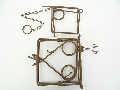 VINTAGE USED METAL Small Animal Foot Snare Leg Trap Traps Wire Parts ...