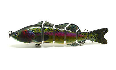 "6"" Largemouth Bass Pike Muskie Striper Fishing Lure Bait Swimbait Life-like"