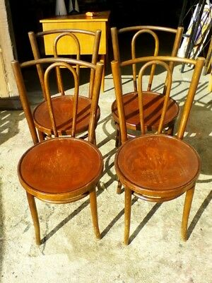 lot de 4 chaises bistrot epoque art deco 1940