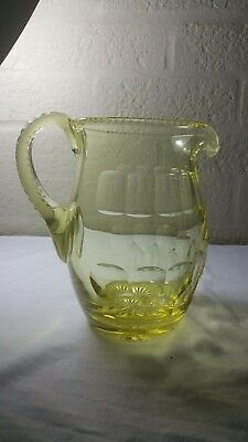 Victorian glass gold coloured early 19th century water jug