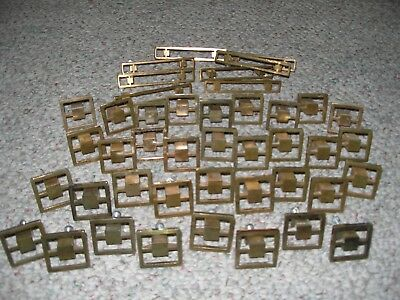 Lot of 43 Vintage 1960's Brass Drawer Pulls Knobs Handles With Hardware