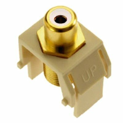 Legrand - On-Q WP3461LA RCA to FConnector, Light Almond
