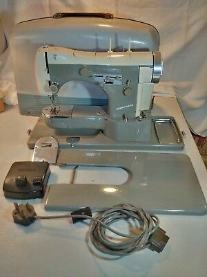 Legendary Necchi Supernova Automatica free arm sewing machine SERVICED
