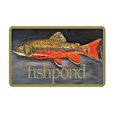 """Fishpond Fly Fishing BT Brookie Trout Fish Sticker- 5.5"""""""