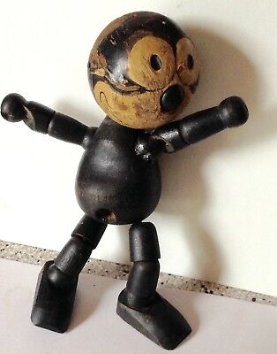 Felix The Cat Wooden Doll Vintage Moveable 1922 -Collectable Felix The Cat