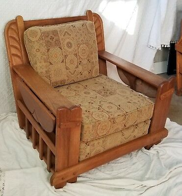 1940's VINTAGE CALIFORNIA WESTERN ROBERTI BROS CAMINO CHAIR MONTEREY FURNITURE