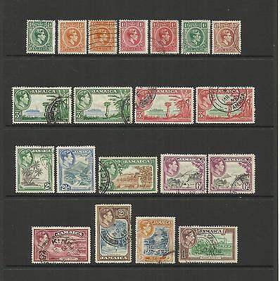 Jamaica ~ 1938-52 King George Vi Definitives (Part Set Used)