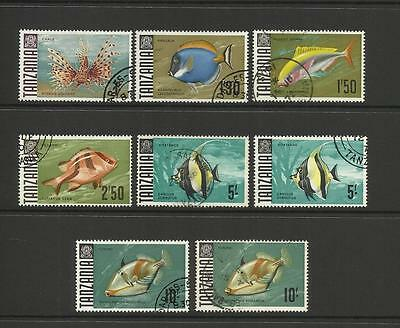 Tanzania ~ 1967 Fish Definitives (Part Set) & Officials