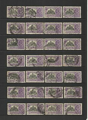 India ~ 1935 Silver Jubilee George V ~ Small Hoard Used 1 1/4 Annas Postmarks