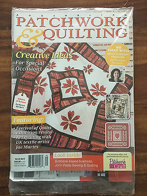 Australian Patchwork and Quilting Vol 23 No 6 Brand New in plastic