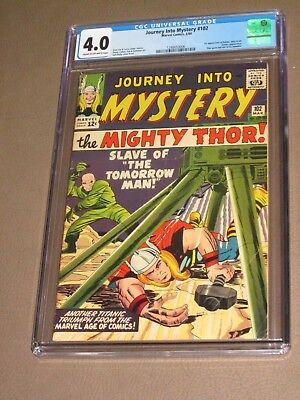 JOURNEY INTO MYSTERY #102 ('64) CGC 4.0 1st App HELA, Sif Movie Tie-in THOR