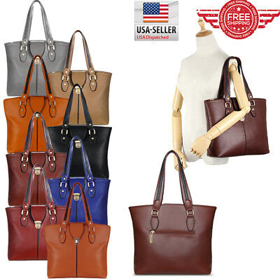 Women Leather Purses and Handbags Shoulder Hobo Messenger Crossbody Tote Bag T01