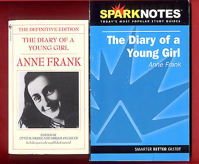 Anne Frank - The Diary of a Young Girl & SparkNotes study guide - Free Shipping