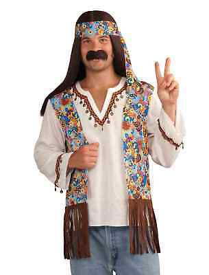 68fce140f FORUM NOVELTIES MENS Groovy Hippie Costume Shirt With Attached Vest ...