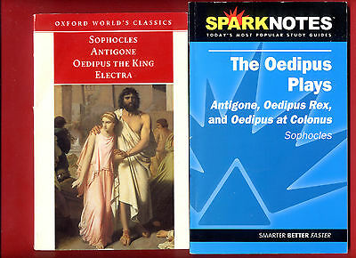 Three Theban Plays by Sophocles + SpakNotes Oedipus Cycle, Antigone Colonus