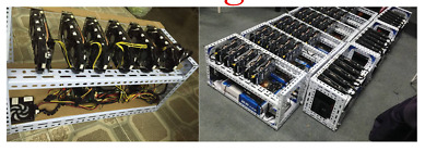 6 GPU Steel Mining Case Frame Rig Crypto Coin Case Open Air Bitcoin Ethereum ETH